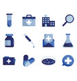 medical and science flat style icon set vector image vector image