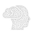 mesh brainstorming icon vector image vector image