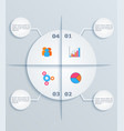 modern template infographic circles with flat vector image vector image