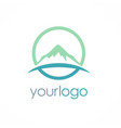 mountain icon logo vector image vector image