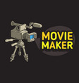 movie maker design with isolated video camera on a vector image