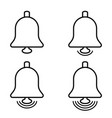 new message notification icon bells social media vector image