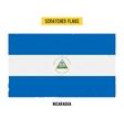 Nicaraguan grunge flag vector image