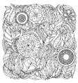 Pattern for coloring book vector image vector image