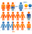 people population icons vector image vector image