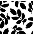 plant twigs with leaves seamless pattern vector image vector image
