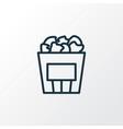 popcorn icon line symbol premium quality isolated vector image