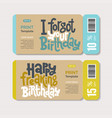 promotional coupon design template with hand drawn vector image vector image