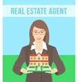 Real Estate Agent Offers a House vector image