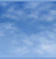 realistic clouds on blue sky background vector image vector image