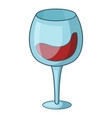 red wine goblet icon cartoon style vector image vector image