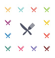 restaurant flat icons set vector image vector image