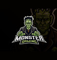 scary frankenstein mascot design vector image vector image