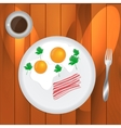 Scrambled Eggs and Coffee vector image
