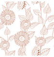 seamless floral pattern autumn background of vector image vector image