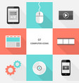 set 07 - flat design computer icons vector image vector image