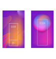 set banner design templates with abstract vector image vector image