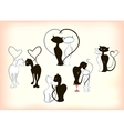 Set of cats in love by Valentines Day EPS10 vector image
