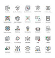 set of data science flat icons vector image vector image