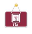 Shopping sign board vector image vector image