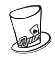 simple black and white mad hatters hat vector image vector image