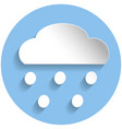 snowing cloud icon paper style vector image