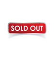 sold out flat i148 vector image vector image