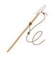 spear for fishing fisherman hobby and activity vector image