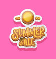 summer sale label or tag isolated on pink vector image