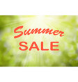 text summer sale sunny green nature vector image