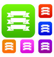 three ribbons set collection vector image vector image