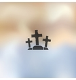 tombstone icon on blurred background vector image
