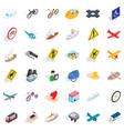 traffic sign icons set isometric style vector image vector image