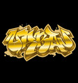 urban word in golden graffiti style vector image vector image