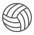 volleyball line icon game and sport ball sign vector image