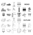 water filtration system monochrom icons in set vector image vector image