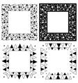 Zen Tangle Frames vector image vector image