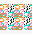 abstract green orange and pink marker circles vector image