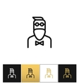 Hipster man fashion icon vector image