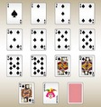 Spades Playing Cards Set vector image