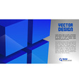 cube layout blue vector image