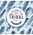 tribal party emblem vector image