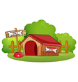 A doghouse at the backyard vector image vector image
