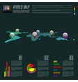 abstract map infographic vector image vector image