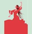 beautiful spanish flamenco dancer wearing elegant vector image vector image