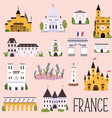 big collection famous landmarks france vector image