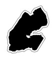 black silhouette of the country djibouti with the vector image vector image