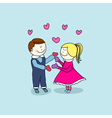 boy and girl happy valentines day vector image vector image