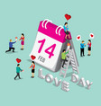 business isometric for valentine vector image vector image