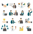 Business Training Consulting Service Icons Set vector image vector image